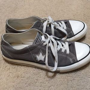 Gray Converse One Star Sneakers